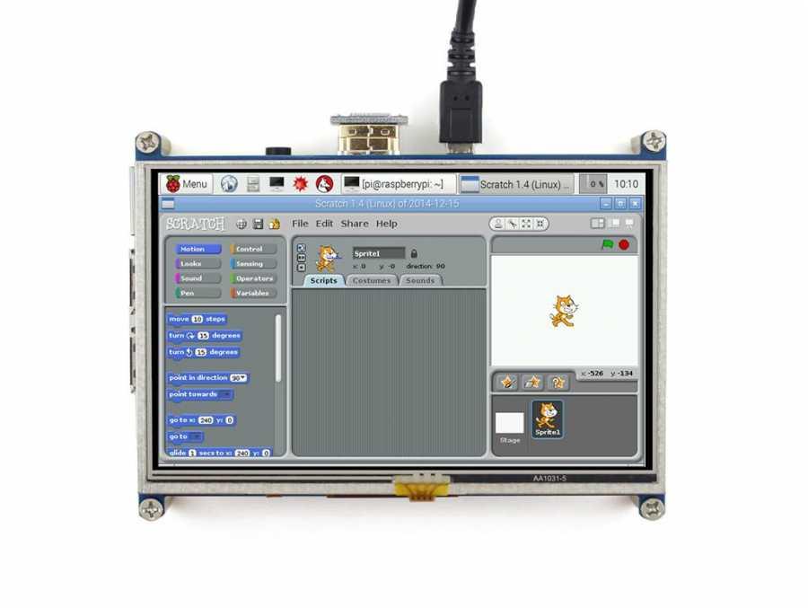 Raspberry 5inch HDMI LCD, 800×480 -WaveShare-