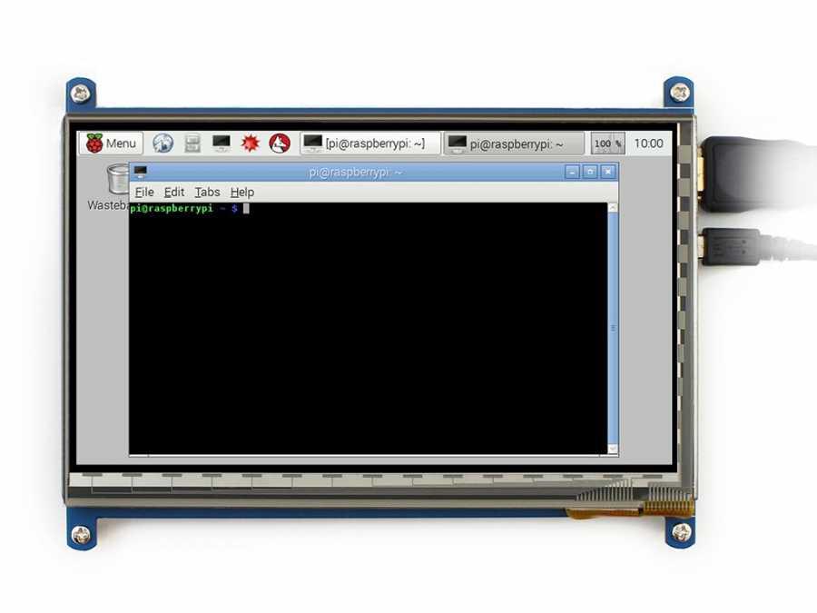 Raspberry 7inch HDMI LCD (B), 800×480, geniş platform desteği-WaveShare-