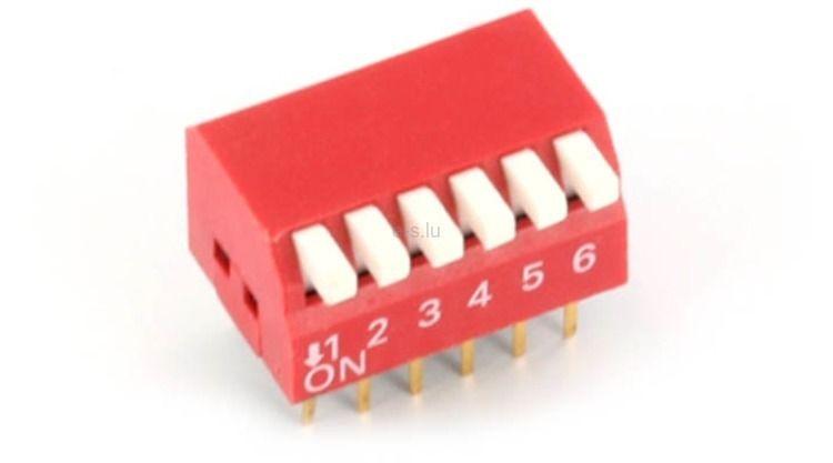 6-Pin Piyano Dip Switch