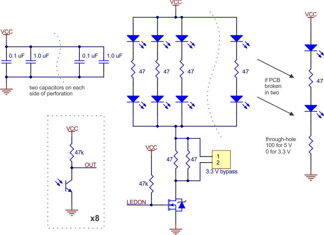 QTR-8A Analog Kızılötesi Sensör Devresi / 8li Analog Çizgi Sensörü Pololu