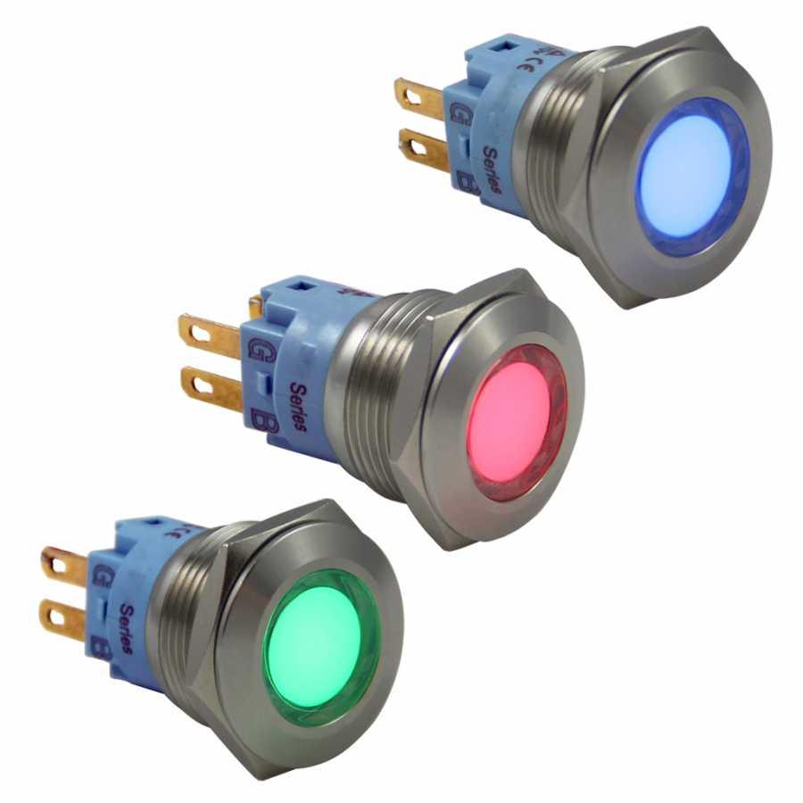 24v Rgb Sinyal Lambası 19mm