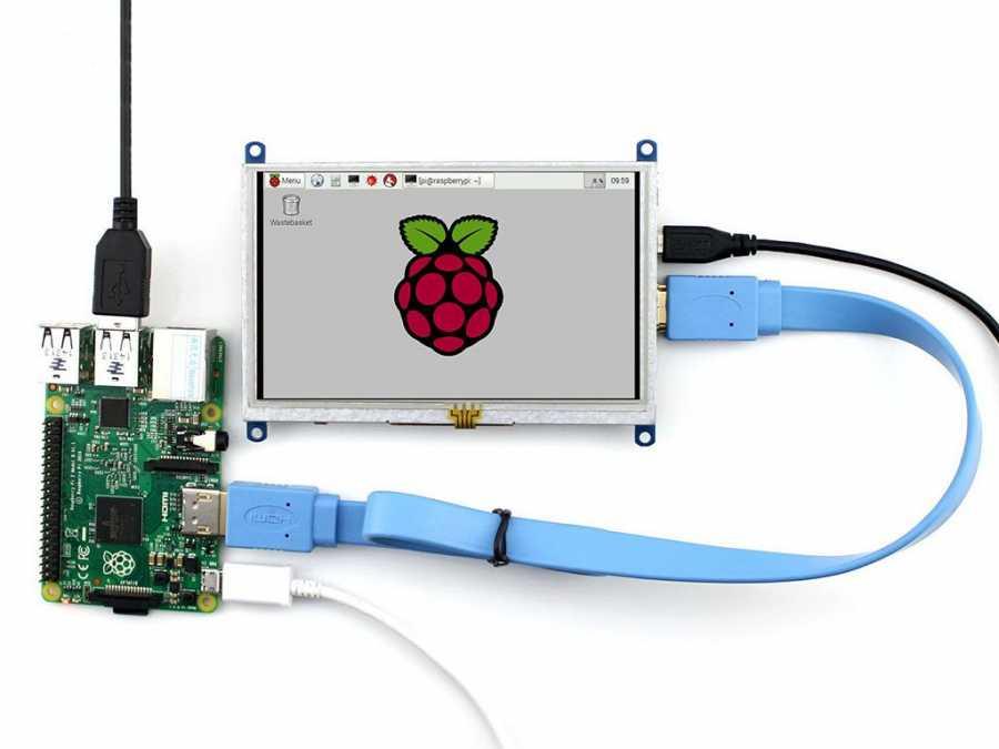 Raspberry Pi 5 Inch HDMI Lcd (B) Ekran 800×480 Geniş Platform Desteği -WaveShare-