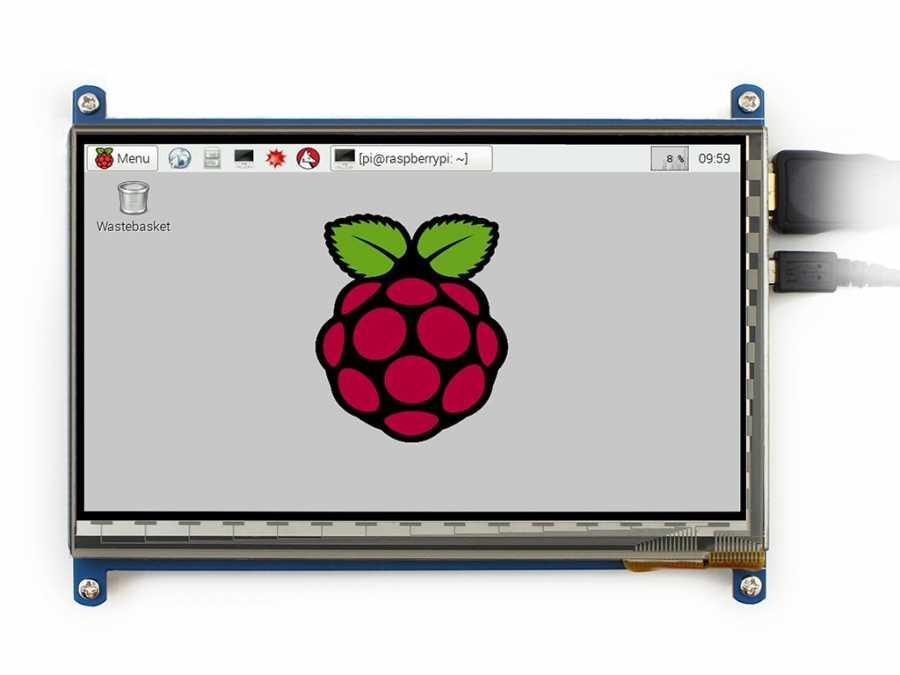 Raspberry Pi 7 Inch HDMI Lcd (B) Ekran 800×480 Geniş Platform Desteği -WaveShare-