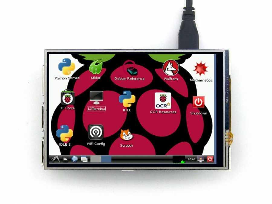 Raspberry Pi 4 Inch Lcd Ekran (A) 320×480 IPS -WaveShare-