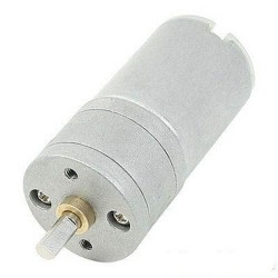 25mm 12V 200 Rpm Redüktörlü DC Motor - Thumbnail