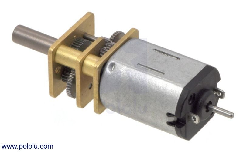 75:1 Micro Metal Gearmotor HP with Extended Motor Shaft - pololu - #2215