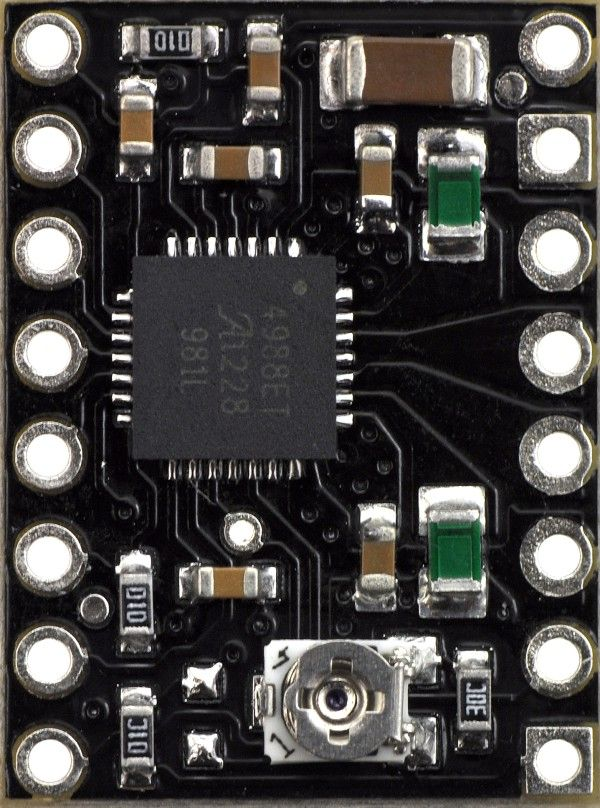 A4988 Stepper Motor Driver Carrier, Black Edition - pololu - #2128