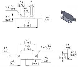Sharp Sensörler İçin Paralel Montaj Aparatı - pololu - #2678 - Thumbnail