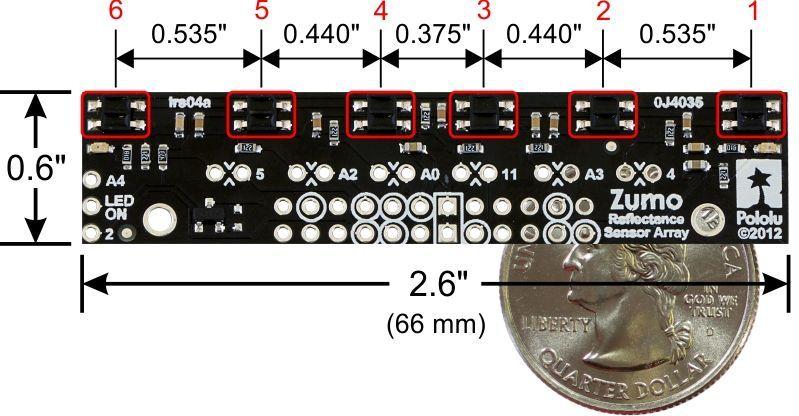 Zumo Uyumlu Çizgi Sensörü - pololu - #1419