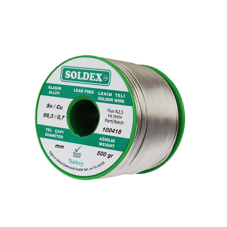 0.75mm 500 gr Kurşunsuz Lehim Teli - Soldex