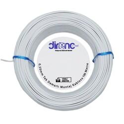 Tek Damarlı Montaj Kablosu 0.5mm 100 Metre Beyaz - Thumbnail