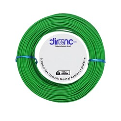 Tek Damarlı Montaj Kablosu 0.5mm 100 Metre Yeşil - Thumbnail
