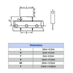 100nF 310Vac Polyester Kondansatör X2 15mm - Thumbnail