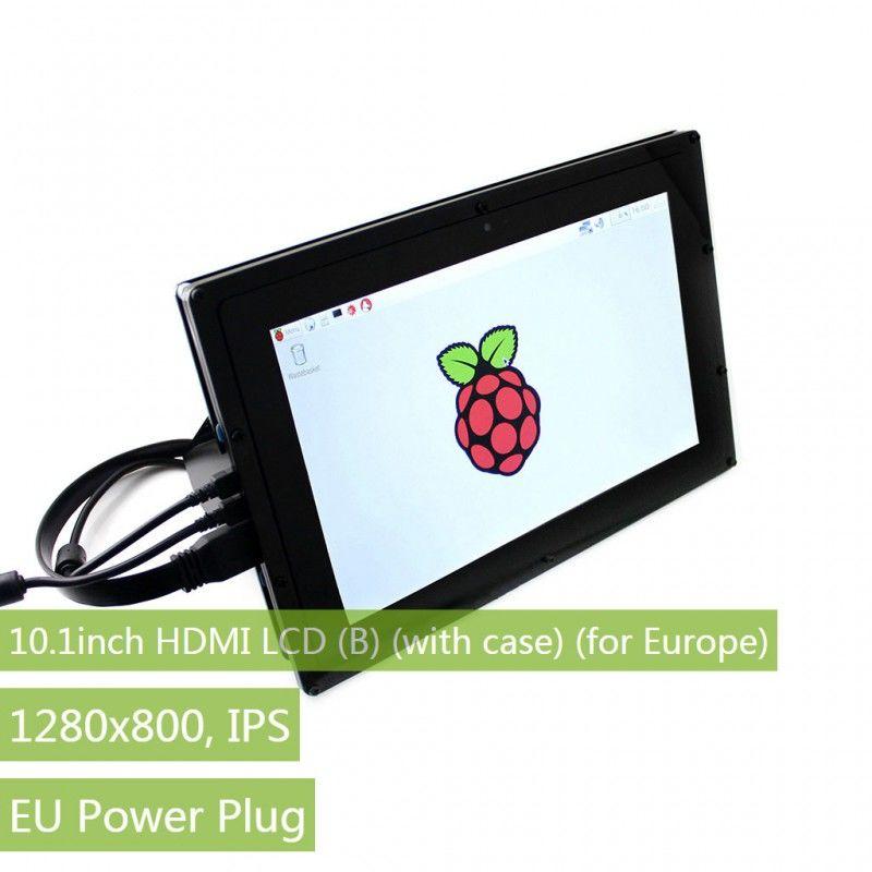 10.1inch HDMI LCD - Muhafazalı - 1280×800-IPS - Raspberry Pi Uyumlu