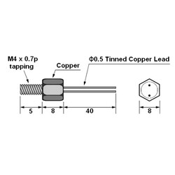 10K 8mm NTC Kablolu Termistör - Thumbnail
