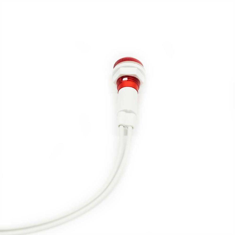 Kablolu Kırmızı Sinyal Lambası 10mm 220V - Plastik
