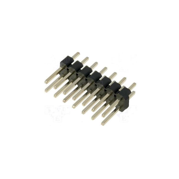 12mm 2x5 Erkek Pin Header - 2.54mm - 180 Derece