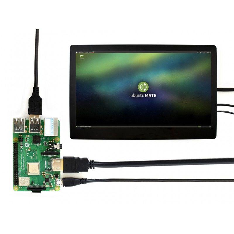 11.6inch HDMI LCD Ekran - Muhafazalı - 1920x1080-IPS - Raspberry Pi Uyumlu