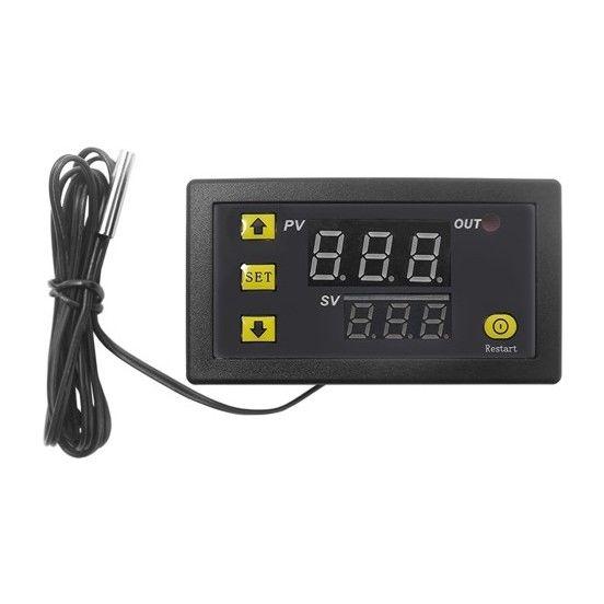 12 V 20A Dijital Ayarlanabilir Mini Termostat