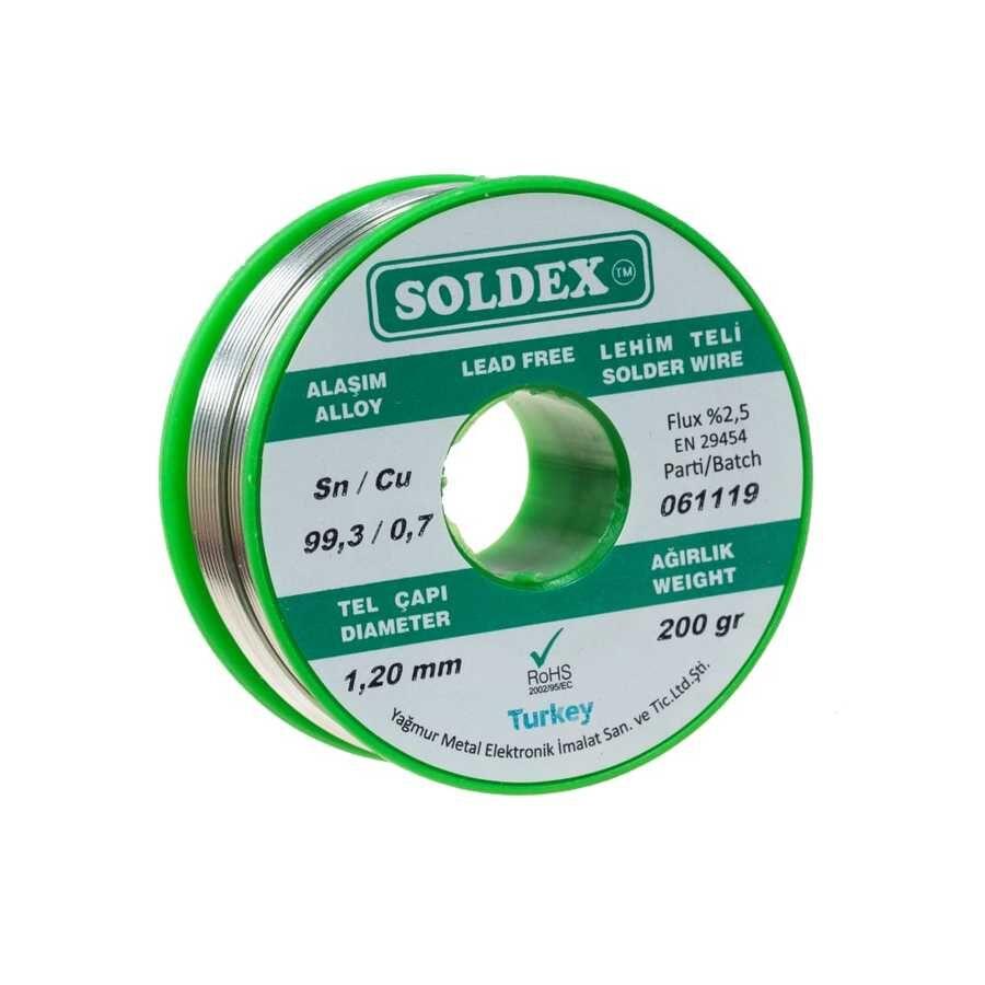 1.2mm 200 gr Kurşunsuz Lehim Teli - Soldex