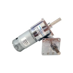 12V-24V 10 RPM 42mm Redüktörlü DC Motor - Thumbnail