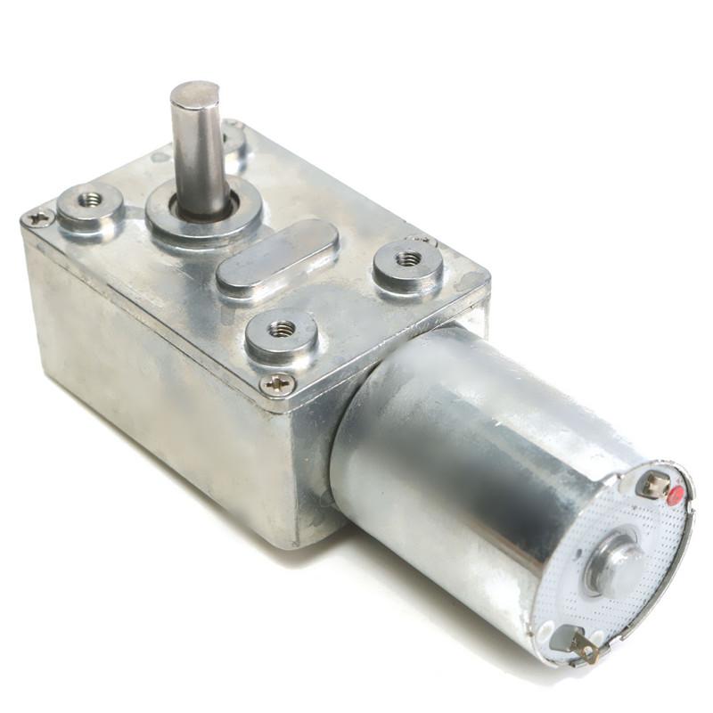 12V 50RPM 90 Derece Redüktörlü Motor