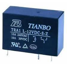 12V Tek Kontak Tianbo Röle 4051 (12V 10A) - TRA1-L-12VDC-S-Z