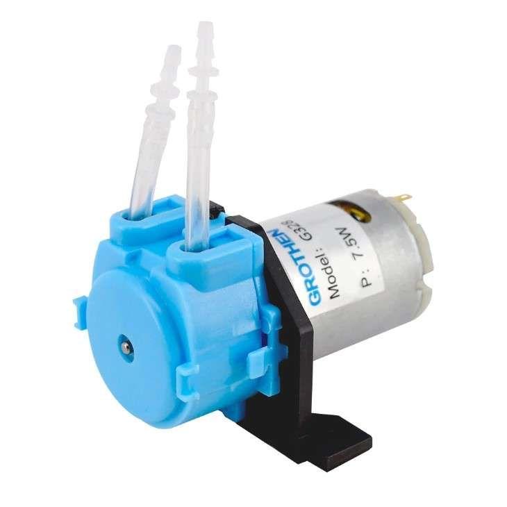 12V DC Peristaltik Dozaj Su Pompası - Mavi