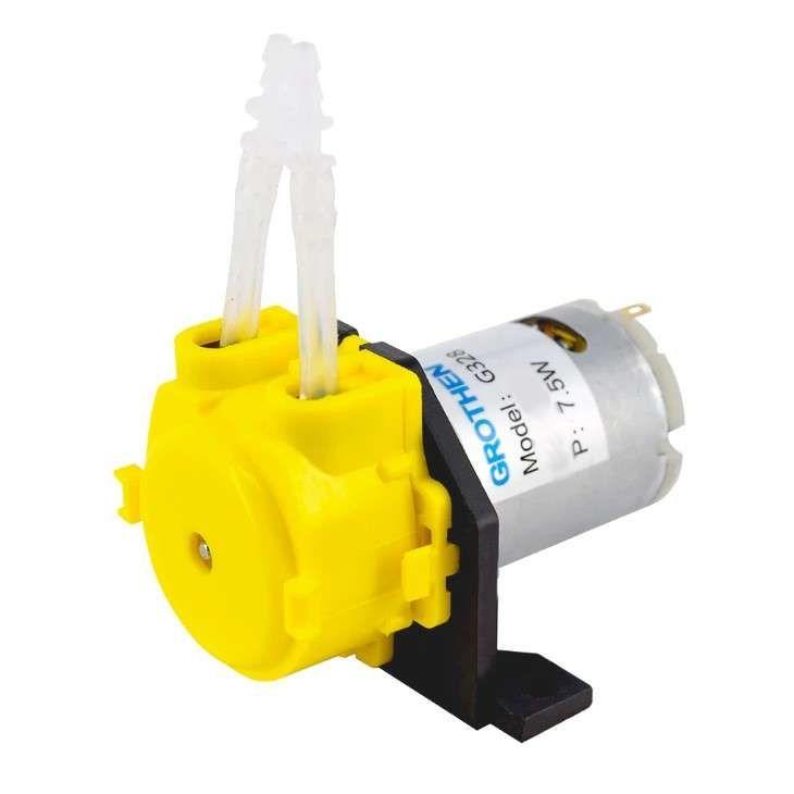 12V DC Peristaltik Dozaj Su Pompası - Sarı