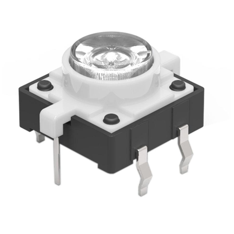 12x12 Beyaz Led Işıklı Tact Switch