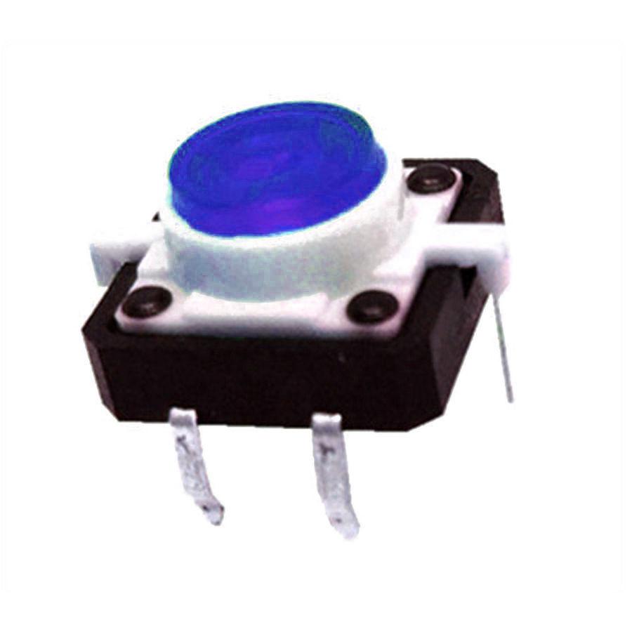 12x12 Mavi Led Işıklı Tact Switch
