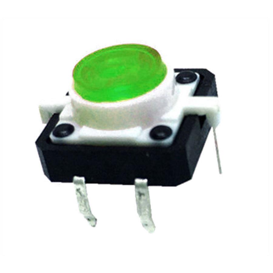 12x12 Yeşil Led Işıklı Tact Switch