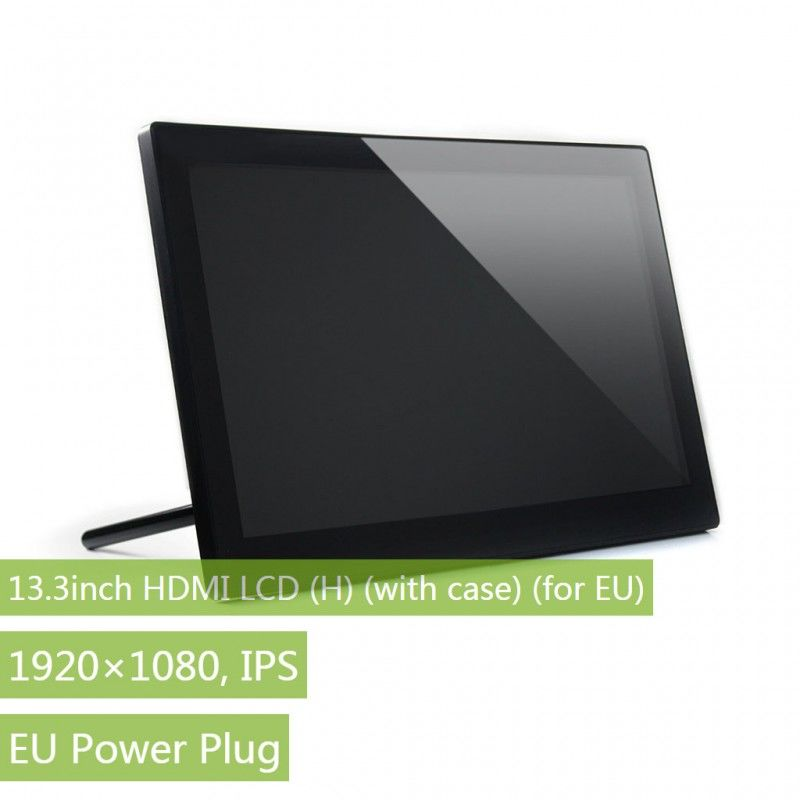13.3 inç HDMI LCD (H) - Muhafazalı -1920x1080 IPS Dokunmatik Ekran - Raspberry Pi Uyumlu - WaveShare