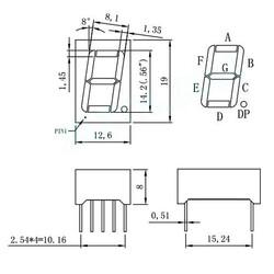 14mm Ortak Anot Display - Yeşil - Thumbnail