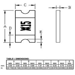 1.5A 6V Smd PTC Termistör 1206 (3216 Metrik) - Thumbnail