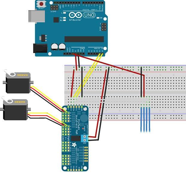 16 Kanal 12 Bit PWM - Servo Sürücü - I2C Interface - PCA9685