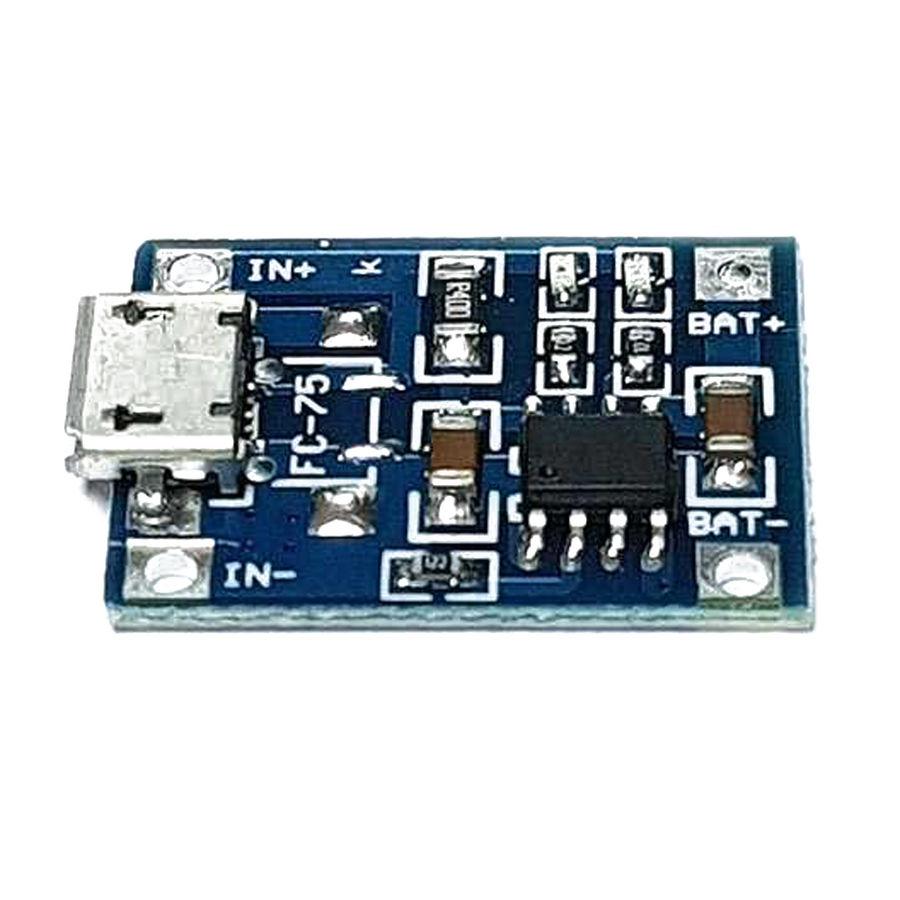 TP4056 1A Lipo - Li Ion Pil Şarj Devresi Micro USB Girişli - 1S Lipo Pil Uyumlu