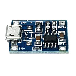 TP4056 1A Lipo - Li Ion Pil Şarj Devresi Micro USB Girişli - 1S Lipo Pil Uyumlu - Thumbnail