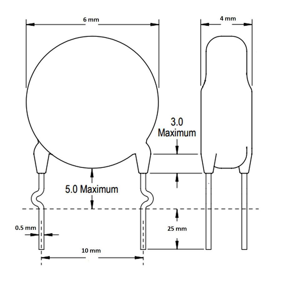 1nF 400VAC 20% X1Y1 Ceramic Capacitor