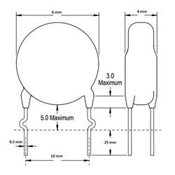 1nF 400VAC 20% X1Y1 Ceramic Capacitor - Thumbnail