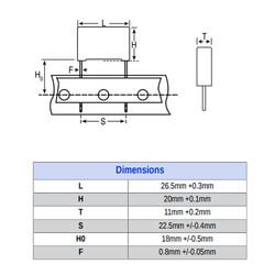 1uF 305VAC 22.5MM 10% X2 - Polyster Capacitor - Thumbnail