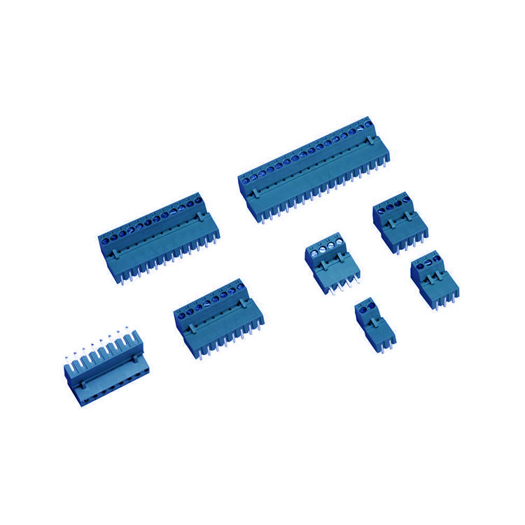 2 Pin 5.08mm Dişi Geçmeli Mavi Klemens