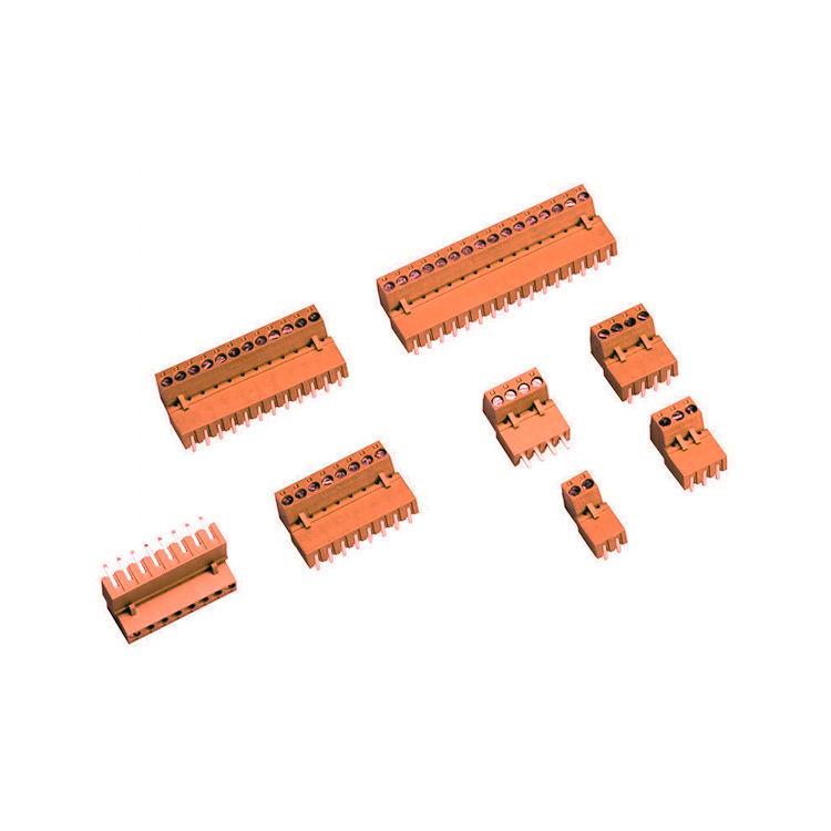 2 Pin 5.08mm Dişi Geçmeli Turuncu Klemens