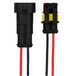 2 Pin Kablolu Su Geçirmez Konnektör Takım - Thumbnail