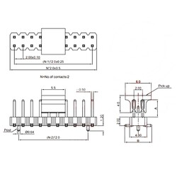 2x4 Erkek Pin Header - 2.00mm - Thumbnail