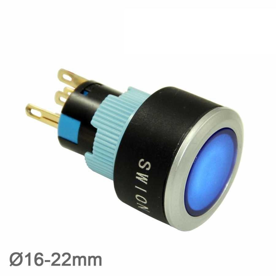 22mm Beyaz Kalıcı Buton / Anahtar 1NO/1NC