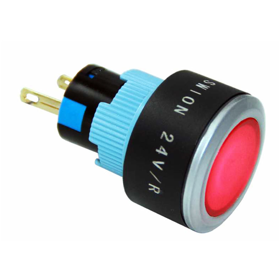 22mm Kırmızı Sinyal Lambası 2P (Led voltajı 10-24v)