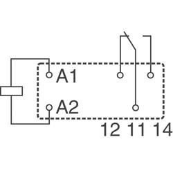 24V 12A 5 Pin Schrack RZ01-1C4-D024 Röle - Thumbnail