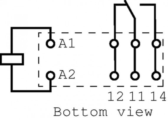 24V 12A 5 Pin Schrack RT114024 Röle