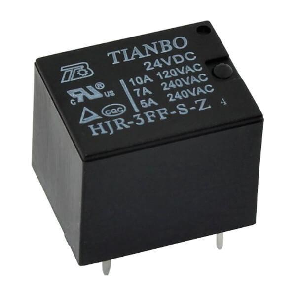 24V Minyon Spot Tianbo Röle (24V 10A) - HJR-3FF-S-Z-4/24VDC